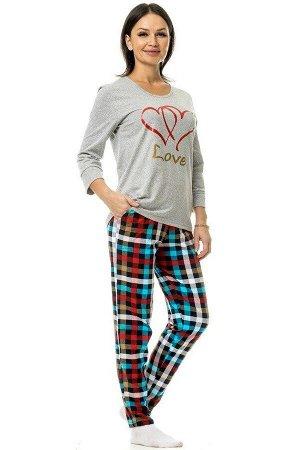 """Костюм с брюками """"Два сердца"""" Lxstyle"""