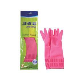 Перчатки из натурального латекса c внутренним покрытием розовые