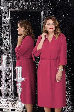 Платье Платье Lenata 11062 малиновый  Состав ткани: ПЭ-100%;  Рост: 164 см.  Это чудесное платье в стиле сафари модного фасона станет незаменимым элементом Вашего гардероба и подойдет практически для