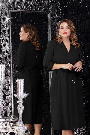Платье Платье Lenata 11062 чёрный  Состав ткани: ПЭ-100%;  Рост: 164 см.  Это чудесное платье в стиле сафари модного фасона станет незаменимым элементом Вашего гардероба и подойдет практически для лю