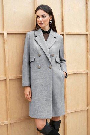 Пальто Пальто ЮРС 19-236/2  Состав ткани: ПЭ-38%; Шерсть-7%; ПА-55%;  Рост: 164 см.  Надеть такое пальто можно на свидание, на работу, на прогулку или в театр, оно универсально и уместно в любой обст