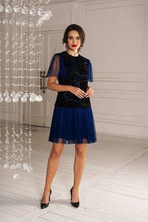 Платье Платье Temper 297 №1  Состав: ПЭ-97%; Спандекс-3%; Сезон: Осень-Зима Рост: 164  Длина платья 96 см, длина рукава 25 см.