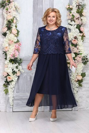 Платье Ninele 7268 темно-синий