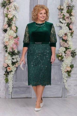 Платье Ninele 5748 изумруд
