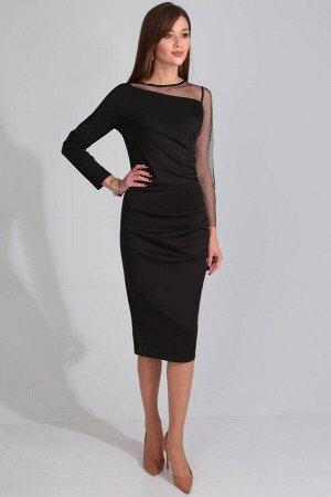Платье Платье Golden Valley 4608-1  Состав ткани: Вискоза-26%; ПЭ-70%; Спандекс-4%;  Рост: 170 см.  Платье без воротника, с круглым вырезом горловины, застежкой на потайную молнию в среднем шве спинк