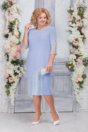 Платье Ninele 7259 голубой