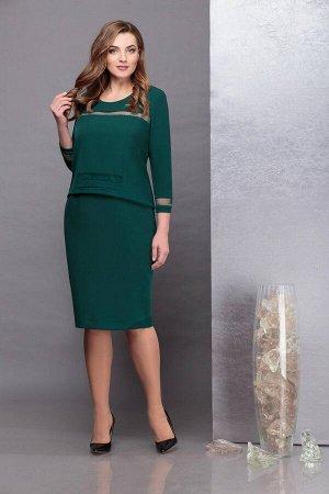Платье Надин-Н 1732 темно-зеленый