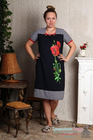 Платье женское Мак (кулирка)