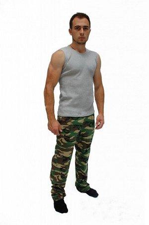 Брюки мужские КМФ (кулирка) (Зеленый)