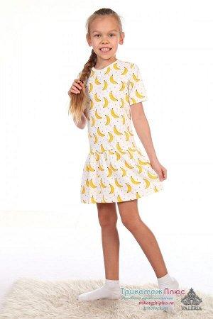 Платье детское Бананы (интерлок)