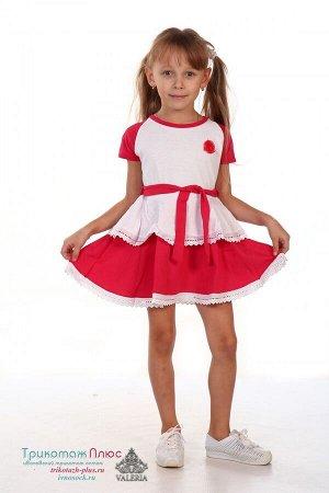 Платье детское с-3828 (вязаное полотно)