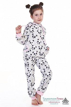 Костюм детский с капюшоном Панды (интерлок)