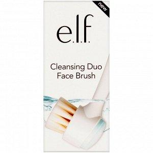 E.L.F., Очищающая двойная кисть для лица, 1 кисть
