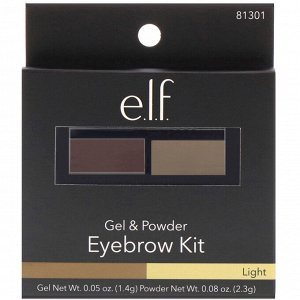 E.L.F., Eyebrow Kit, Gel & Powder, Light, 0.05 oz (1.4 g), 0.08 oz (2.3 g)
