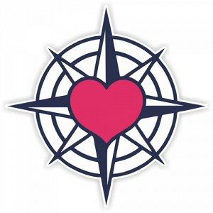 Наклейка Сердце моряка