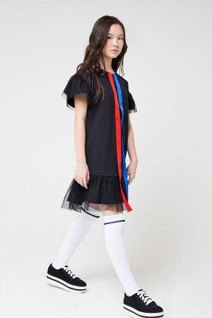 Платье Цвет: черный к17; Вид изделия: Трикотажные изделия; Полотно: Футер-петля; Рисунок: черный к17; Сезон: Осень-Зима; Коллекция: №17 Street Style Платье из однотонного футера. На спинке застежка н