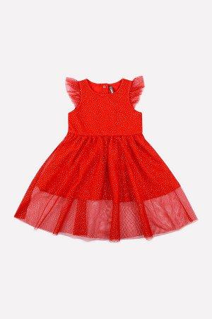 5528/1 Платье/насыщенно-красный