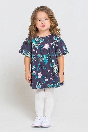 5558 Платье/темно-серый, магические бабочки к221