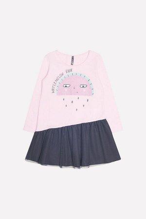 Платье(Осень-Зима)+girls (холодно-розовый к232)