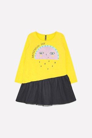 Платье(Осень-Зима)+girls (желтый к232)