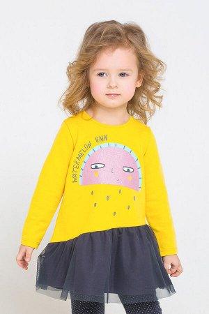 Платье(Осень-Зима)+girls (желтый к231)