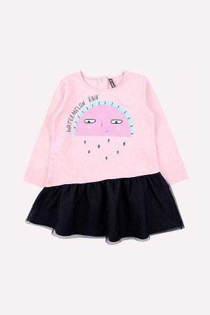 Платье(Осень-Зима)+girls (холодно-розовый к231)