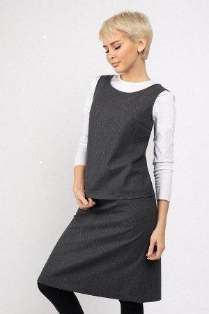 #86867 Блуза Темно - серый