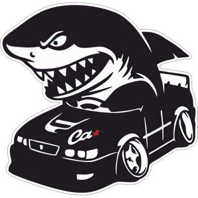 🌟Яркие интерьерные наклейки! Наклейки на Авто! - 46🌟 — На АВТО. Акулы — Аксессуары