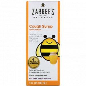 Zarbee's, Children's Cough Syrup, Dark Honey, Natural Grape Flavor, 4 fl oz (118 ml)