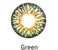 Перекрывающие цветные контактные линзы HERA VIVID Green ВС 8.6 -6.5 (2 линзы)