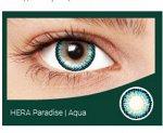 Перекрывающие цветные контактные линзы HERA PARADISE Aqua -4.5 ВС 8.6 (2 линзы)
