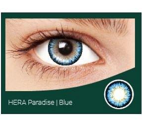 Перекрывающие цветные контактные линзы HERA PARADISE Blue -4.5 ВС 8.6 (2 линзы)