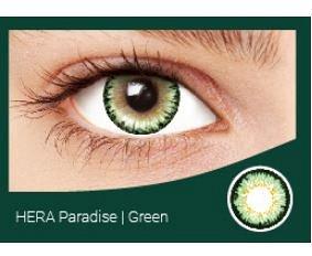 Перекрывающие цветные контактные линзы HERA PARADISE Green -4.0 ВС 8.6 (2 линзы)