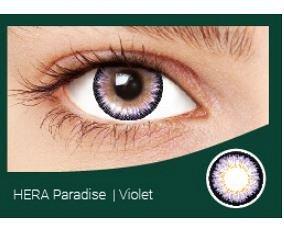 Перекрывающие цветные контактные линзы HERA PARADISE Violet -5.5 ВС 8.6 (2 линзы)