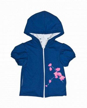 Жилет Курточка с короткими рукавами-фонариками, капюшоном и незаметными карманами. Модель изготовлена из плотного материала, который практичен в уходе, со временем не теряет форму и яркий цвет. Курточ