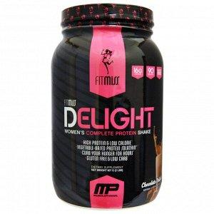 FitMiss, Delight, протеиновый коктейль для женщин, со вкусом шоколада, 907 г (2 фунта)