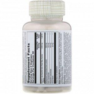 Solaray, Super Bio Vitamin C, витамин C медленного высвобождения, 100 вегетарианских капсул