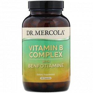 Dr. Mercola, Комплекс витаминов группы B с бенфотиамином, 180 капсул