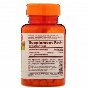 Sundown Naturals, B-12, 500 мкг, 200 таблеток