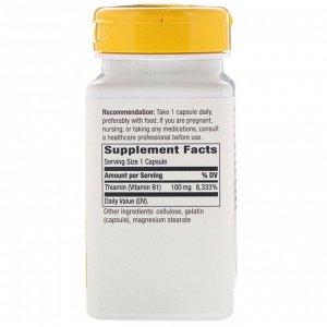 Nature&#x27 - s Way, Витамин В1, 100 мг, 100 капсул