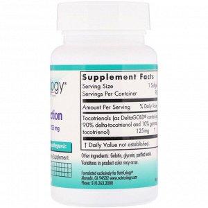 Nutricology, Дельта-фракция токотринол, 125 мг, 90 капсул