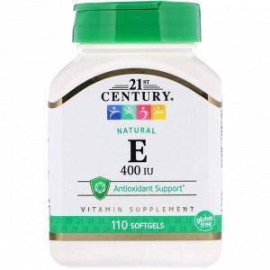 21st Century, E, Natural, 400 IU, 110 Softgels