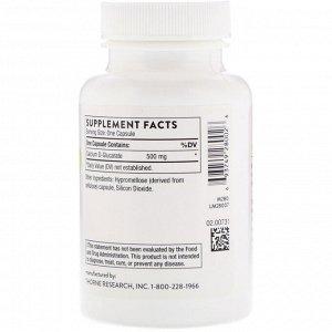 Thorne Research, D-глюкарат кальция, 90 вегетарианских капсул