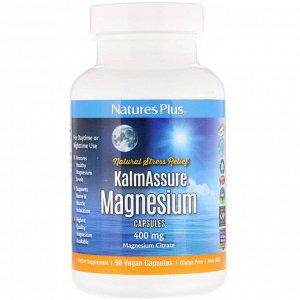 Nature&#x27 - s Plus, Kalmassure, магний, 400 мг, 90 веганских капсул