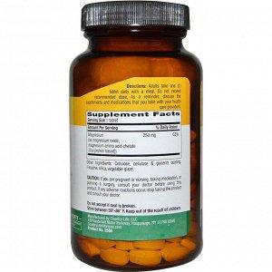 Country Life, Хелатный магний, 250 мг, 180 таблеток