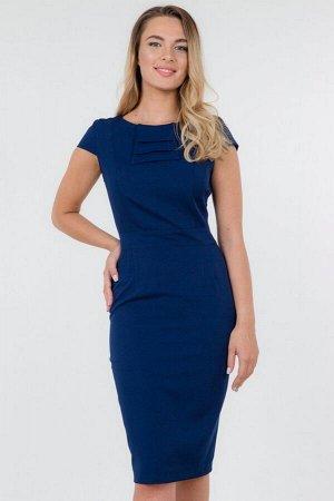 Платье-футляр с жабо и короткими рукавами, 01.025.10.120