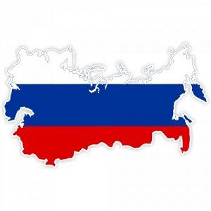 Флаг России - территория