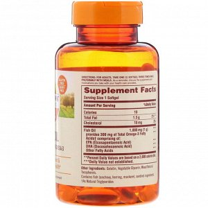 Sundown Naturals, Fish Oil, 1,000 mg, 72 Softgels