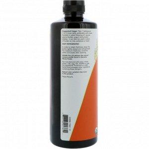 Now Foods, Сертифицированное органическое льняное масло, 24 жидких унций (710 мл)