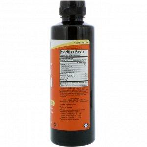 Now Foods, Сертифицированное органическое льняное масло, 355 мл (12 жидких унций)